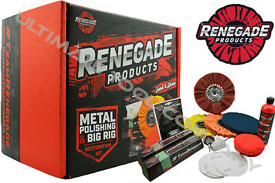 Complete Polishing Kit Rebel , Buffing Wheels Renegeade Products Made In The USA