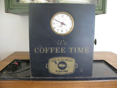 "Vintage General Store ""It's Coffee Time"" Coffee Station Display/with Clock"
