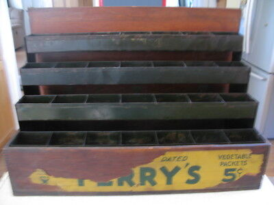 Vintage Ferry's Morse Wooden Seed Box General Store Counter Display