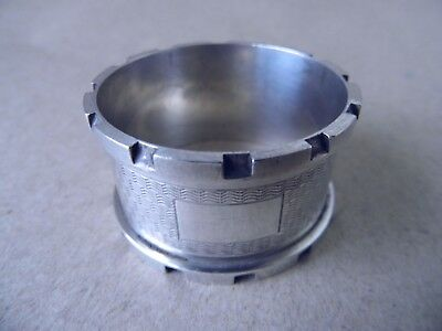 Excellent Beautiful Sterling Silver Napkin Ring 1961, Not Engraved
