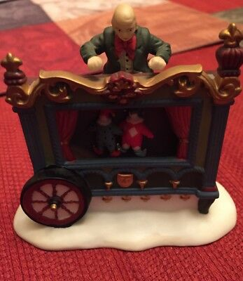 Dept 56 Heritage Village The Old Puppeteer Puppet Man Cart only Department