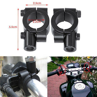 Motorcycle Handlebar Mirror Mount 8mm 10mm Clamp Rear View Mirror Holder Fm