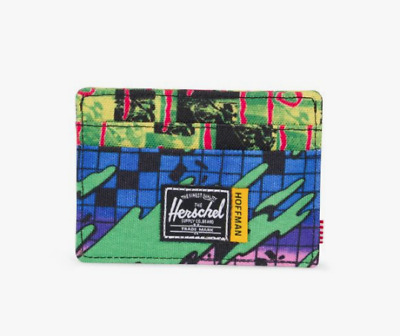 Herschel Supply Co. Charlie RFID Wallet in Hoffman Check/Surf NWT Free Shipping