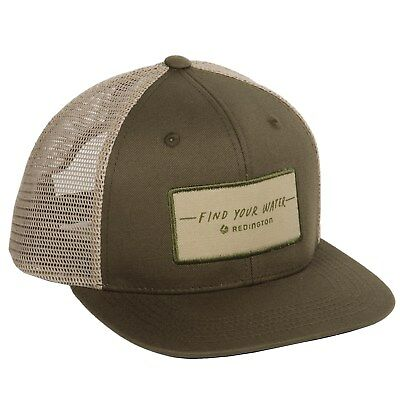 934678f7 Redington Fishing Find Your Water Script Mesh Trucker Hat in Olive Snapback  OSFA
