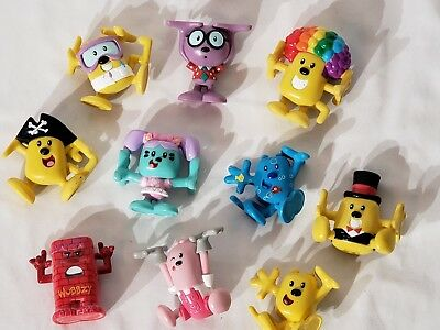 Wow Wow Wubbzy PVC Figures, Lot of 10 Stackable Silly Colorful Fun