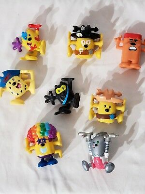 Wow Wow Wubbzy PVC Figures, Lot of 8 Stackable Silly Colorful Fun