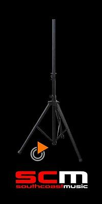 Speaker Stand Professional Quality  Strong & Light Aluminium Holds 30Kg  New!