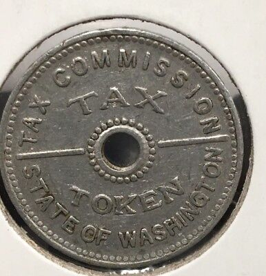 State of Washington Tax Commission Token 10 Cents or Less Coin