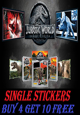 Panini JURASSIC WORLD FALLEN KINGDOM SINGLE STICKERS Buy 4 Get 10 FREE! FREEPOST