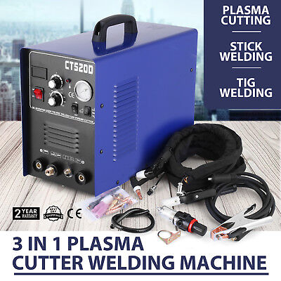 NEW 3 in 1 50A Plasma Cutter 200 AMP TIG STICK/ARC Welder CT520D