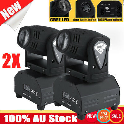 2X 50W LED RGBW Stage Light Moving Head DMX512 DJ Disco Show Lights Master-slave
