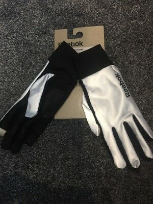 reebok reflective running glove size Small mens womens new tags fitness jogging