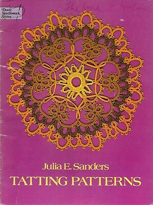 Dover Tatting Patterns Julia Sanders PB book stitches edging guide patterns
