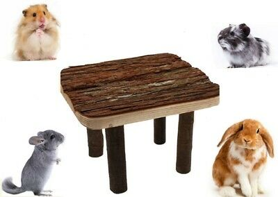 100% Natural Rustic Wooden Platform for Rabbits, Degus, Chinchillas, Hamsters