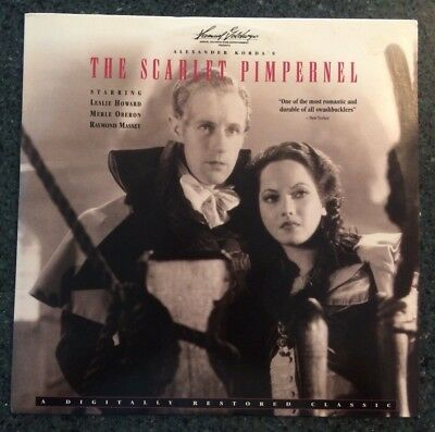 RARE! THE SCARLET PIMPERNEL (1935) Leslie Howard and Merle Oberon - Laser Disc