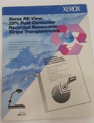 Xerox 8.5 X 11 Inch Transparency Sheets - 98 Sheets - Overhead Projector  -A