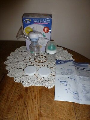 The First Years Easy Comfort Deluxe Manual Breast Pump w/Soothie Bottles+Nipple