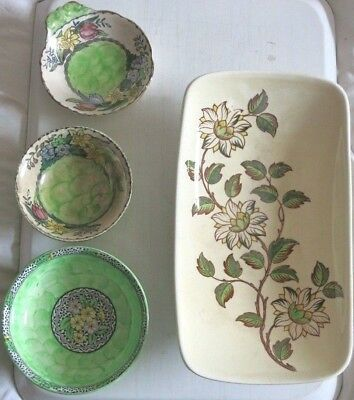 Maling Bowls/Dishes Job Lot 3 with damage and 1 with glaze discolouring.