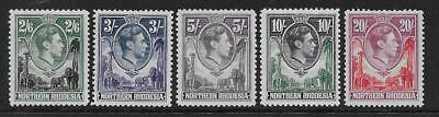 Northern Rhodesia  Sg 41/5  Top Values Of 1938/52 Gvi Set   Fine Mounted Mint