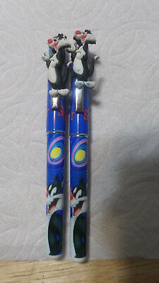 Looney Tunes Sylvester The Cat Pen Lot Of 2-Used