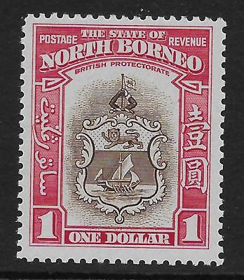 North Borneo  Sg 315  1939 $1  Very Fine Extremely Lightly Mounted Mint