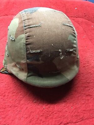 STEMACO US. MILITARY PASGT COMBAT made with KEVLAR HELMET ARMY MARINES Green