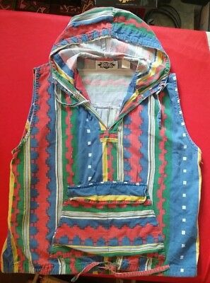 vintage 80's 90's Skater sleeveless hoodie tank top Tribal Crazy Surfer Rad Med