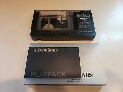 Quasar VHS-C to VHS Cassette Adapter with case..Tested/Working....FREE SHIPPING