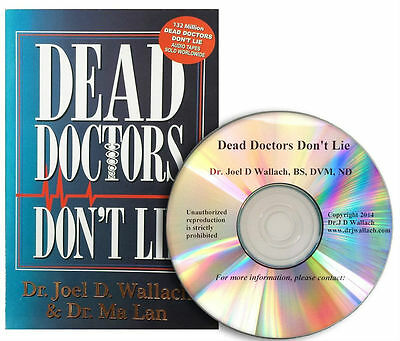 """DEAD DOCTORS DON""""T LIE Book By Dr. Joel Wallach with FREE CD Fast Shipping"""