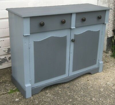Antique Vintage Painted Pine  Dresser Base / Kitchen Cupboard / Sideboard
