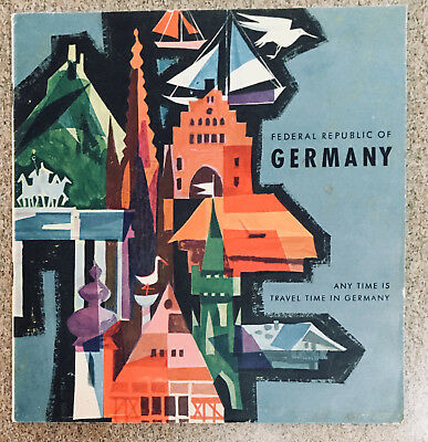 Vintage Germany Any Time Is Travel Time in Germany Maps/Brochure