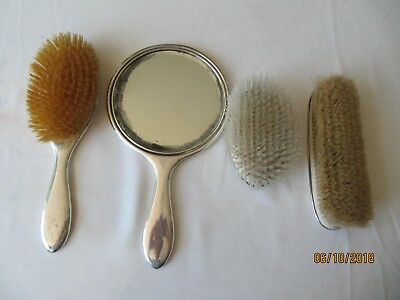 Vintage Birks Sterling Silver Mirror and Brushes