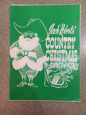 Jack Robert's Country Christmas Shower Of Stars, Sonny James Autograph, Brochure