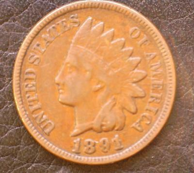 1891 Indian Head Penny, LIBERTY & 2 Diamonds   ***Special*** (91IHP20181)