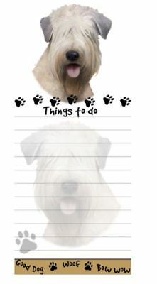 WHEATEN TERRIER DOG DIECUT LIST PAD NOTES NOTEPAD Magnetic Magnet Refrigerator
