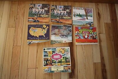 1970's American Oil Co Standard Calendar Lot North Side Stand Stevens Point, WI