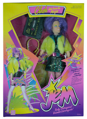 Jem & the Holograms - Clash of the Misfits Doll w/ cassette MISB New Hasbro 1986