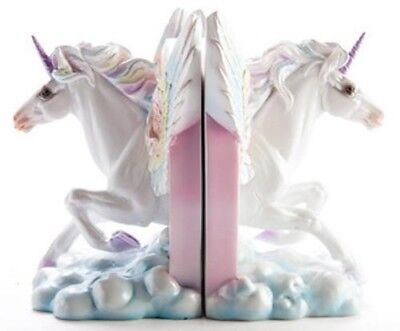 Mystic Worlds Flying Unicorn Bookends