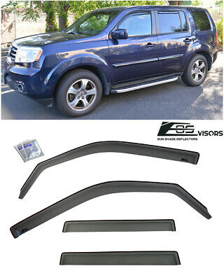 For 09-15 Honda Pilot EOS Visor IN-CHANNEL Smoke Tinted Side Window Deflectors