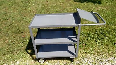 "3 shelf steel picking warehouse utility cart 1200 lb capacity 36"" x 24"" Jamco"