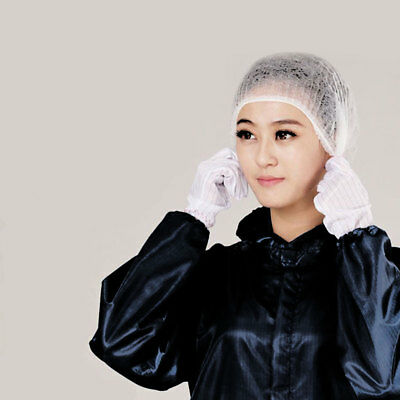 Disposable Hair Nets Spray Tanning Hair Net Catering Mob Caps Fake Tan 100