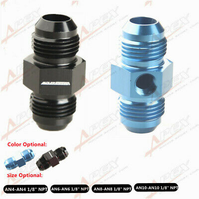 """AN4/6/8/10/12 To AN Aluminum Fuel Pressure Gauge Fitting Adapter With 1/8"""" NPT"""