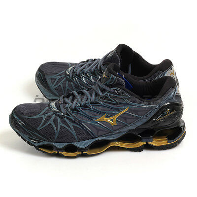 51538bf296ed Mizuno Wave Prophecy 7 Grey/Gold/Black Expert Running Shoes 2018 J1GC180050