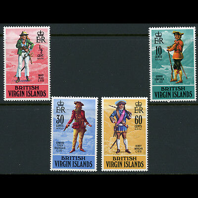 BRITISH VIRGIN IS 1970 Pirates. SG 263-266. Mint Never Hinged. (AW582)