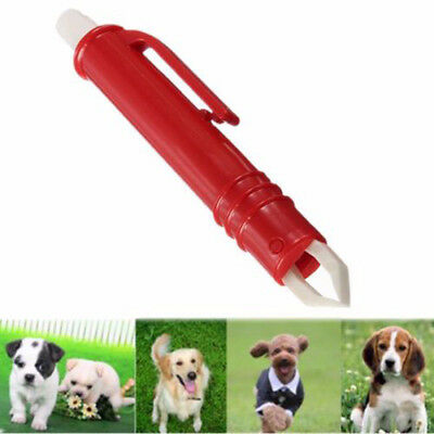 1x Plastic Pet Dog Cat Tick Remover Pen Tweezers Tool Flea Mite Grooming Durable