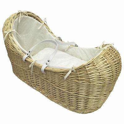 Clair de Lune Broderie Anglaise Noah Pod Moses Basket Cream Suitable From Birth