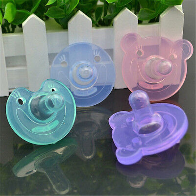 Newborn Kids Baby Orthodontic Dummy Pacifier Silicone Teat Nipple Soothers UK