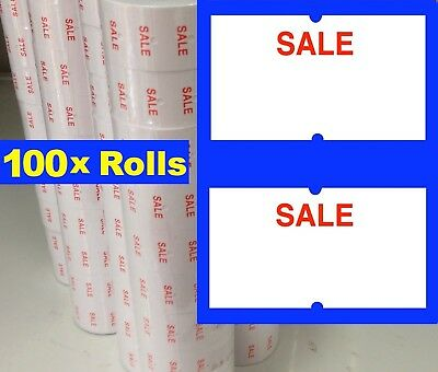 100 Standard SALE Price Pricing Gun Labeller Tag Tagging Label Rolls  MX 5500