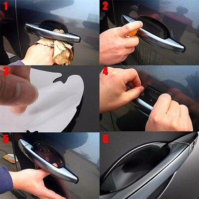 8PCS Universal Invisible Car Door Handle Scratches Protective Protector Films