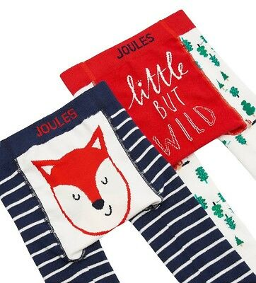 JOULES Babylively Twin Pack Long Johns Leggings Fox AW18 BNWT NEW